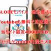 1/31迄【端末セットが19000円還元増量中】Youtubeも無料で見放題!BIGLOBEモバイル 大