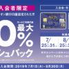 【激熱キャンペーン】イオンクレジットで最大20%キャッシュバック、組み合わせで40